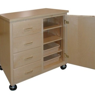 Mobile art storage carts
