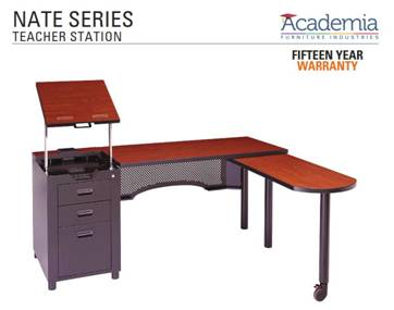 Nate Series Teacher's Workstation classroom furniture from School Furnishings