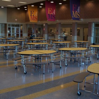 Mitchell Eliptical Cafeteria Tables