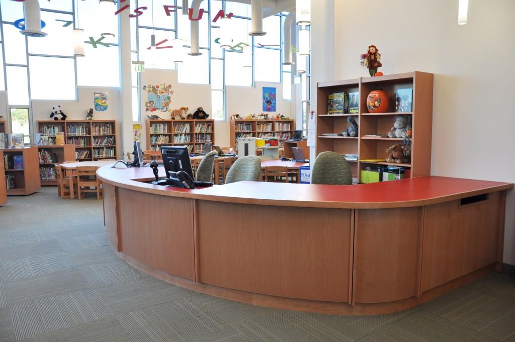 Tesco library Circulation desk