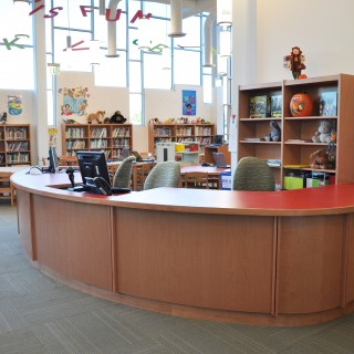Tesco library Circulation desk