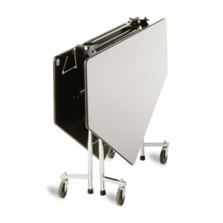 Octagon fold 'n roll cafeteria table