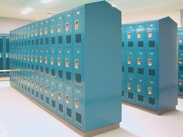 Slope top lockers for schools & universities